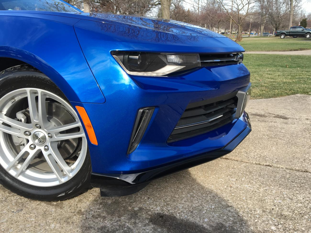 Front Splitter, Black Bowties and Splash Guards Installed On