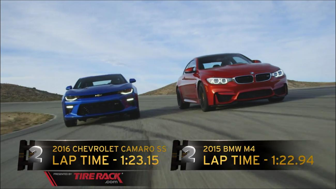 motor trend track tests the m4 vs the chevy camaro ss bmw news at