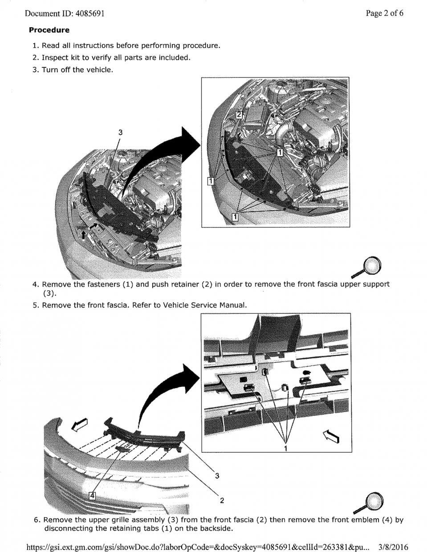 Illuminated front bowtie installation instructions - CAMARO6