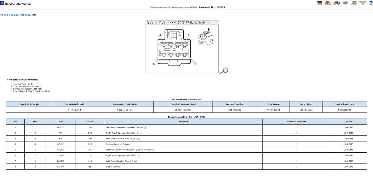 Bose Wiring Diagram Camaro6 Audio Amplifier Attached Images