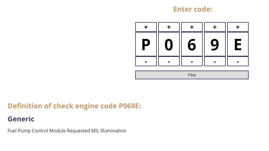 Code P069e Camaro6
