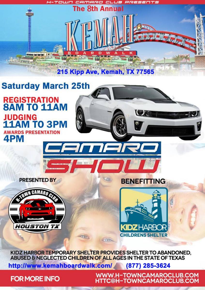 Th Annual Kemah Boardwalk CAMARO SHOW March Th CAMARO - Kemah car show