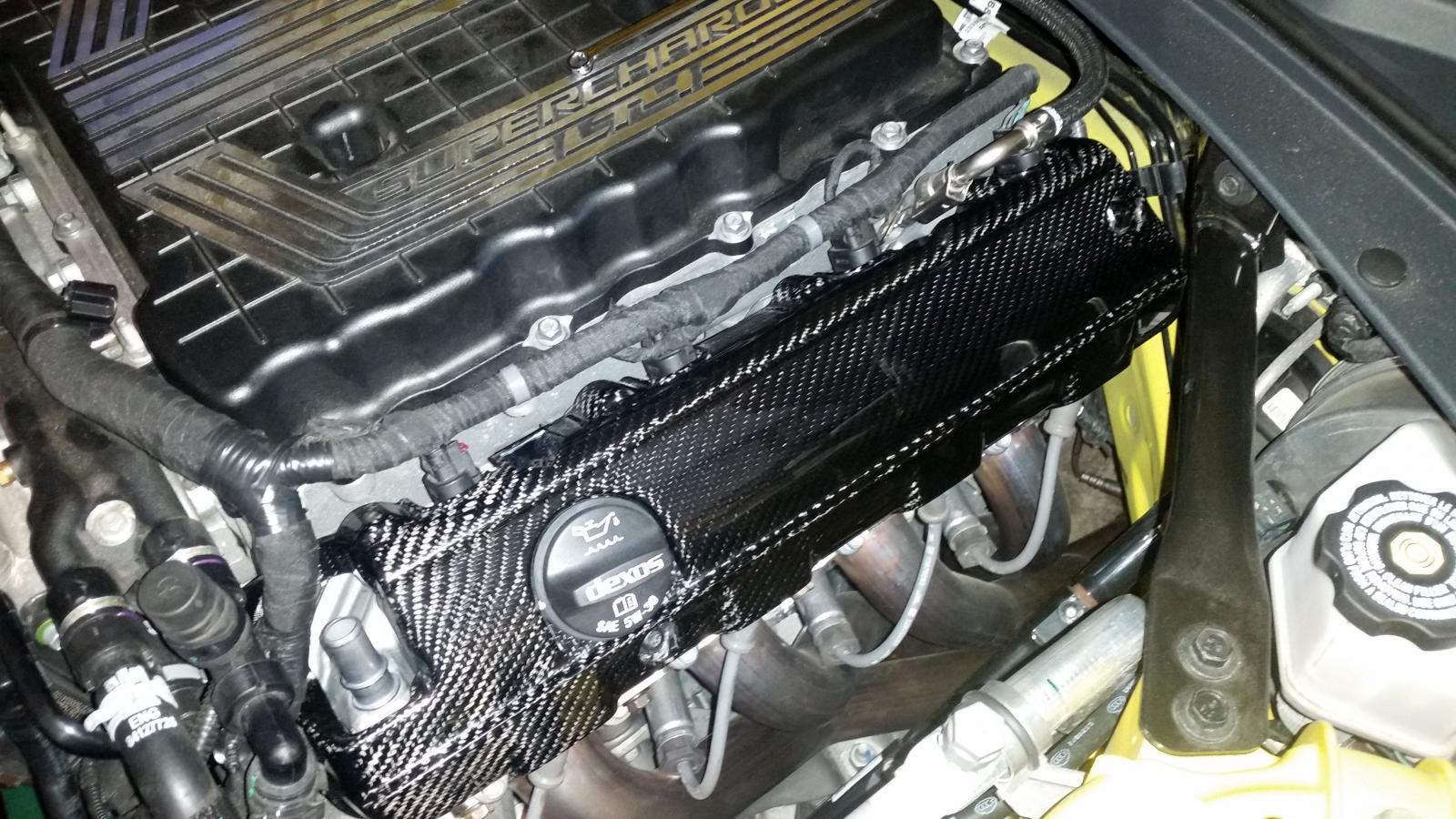 Real Carbon Fiber Coil Covers Camaro6