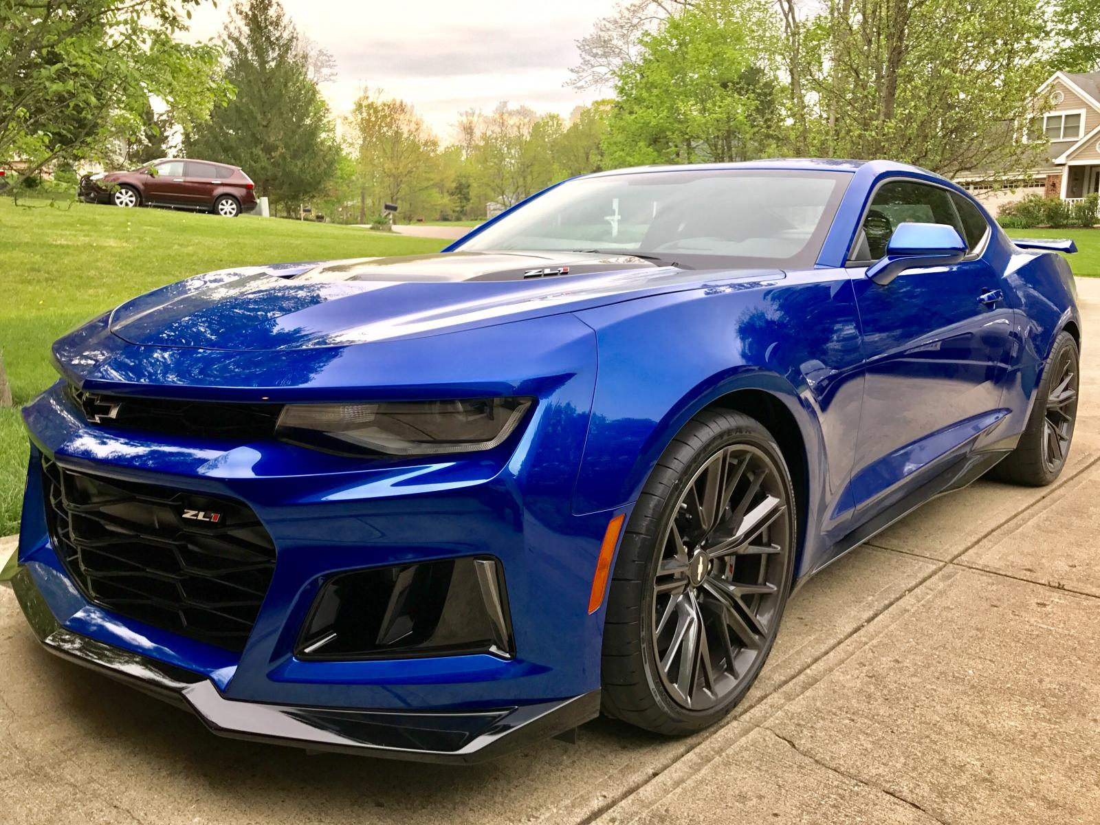 2017 zl1 camaro coupe only 161 miles 6 speed manual hyper blue metallic camaro6. Black Bedroom Furniture Sets. Home Design Ideas