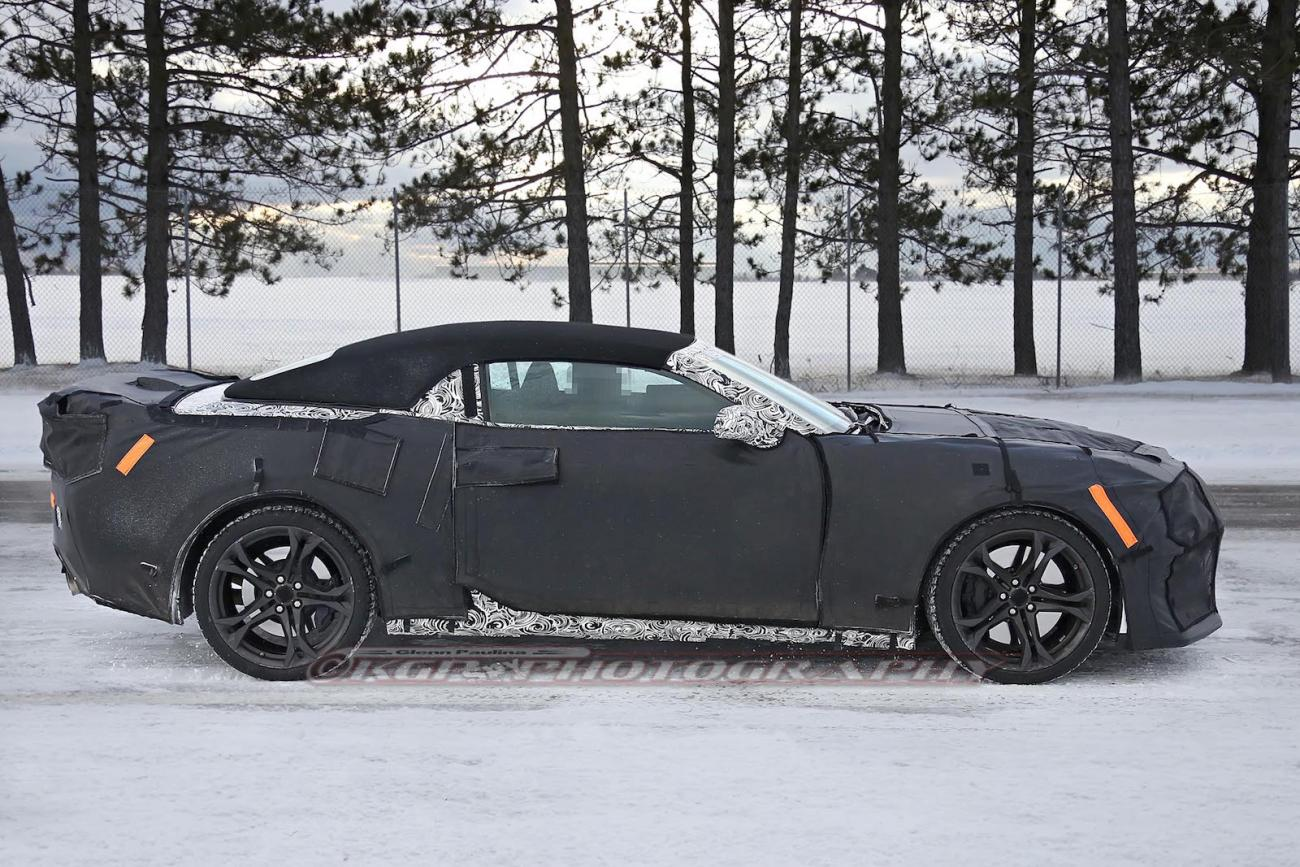 6th Gen Camaro Zl1 Covertible Spotted Undergoing Winter