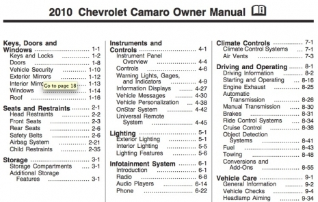 2010 camaro owner manual now available for download in pdf format rh camaro5 com 2013 camaro owners manual pdf 2014 camaro owner manual