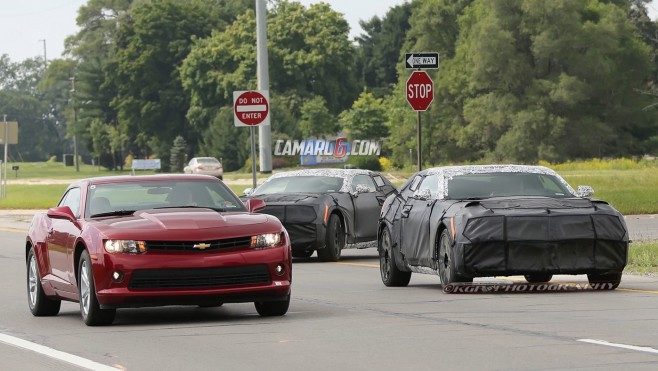 2016 Camaros Spied Running With 5th gen Camaro! – 6th gen
