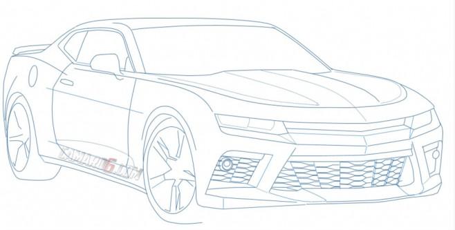 Image Gallery 2016 Camaro Drawing