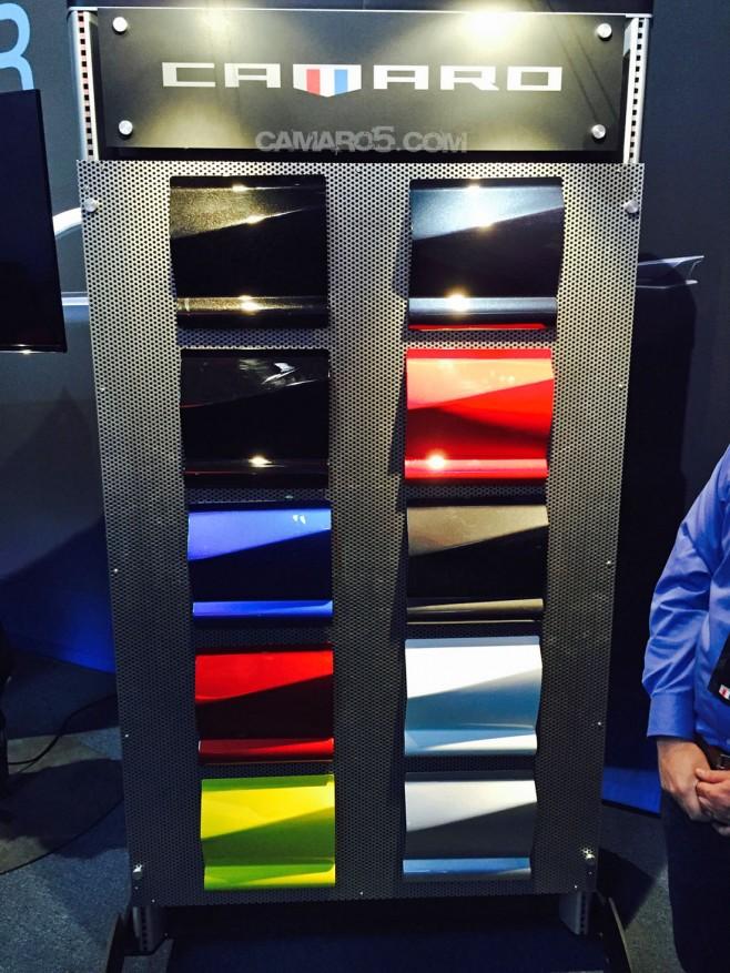2016 Camaro Color Palette