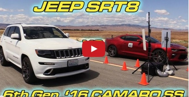 2016 camaro ss drags against jeep grand cherokee srt8. Black Bedroom Furniture Sets. Home Design Ideas