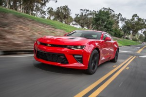 2016-Chevrolet-Camaro-SS-front-three-quarter-in-motion