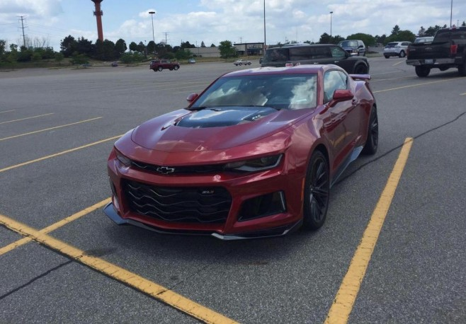 Silver And Garnet Red 2017 Zl1 Spotted In The Wild 6th