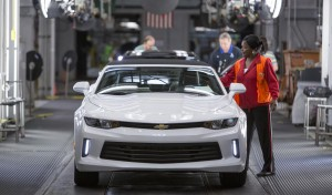 Chevrolet announces Monday, October 26, 2015 it will soon begin shipping the 2016 Chevrolet Camaro to dealers from General Motors Lansing Grand River Assembly in Lansing, Michigan.