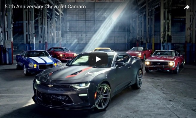 Tv Commercial Featuring Camaro 50th Anniversary Edition