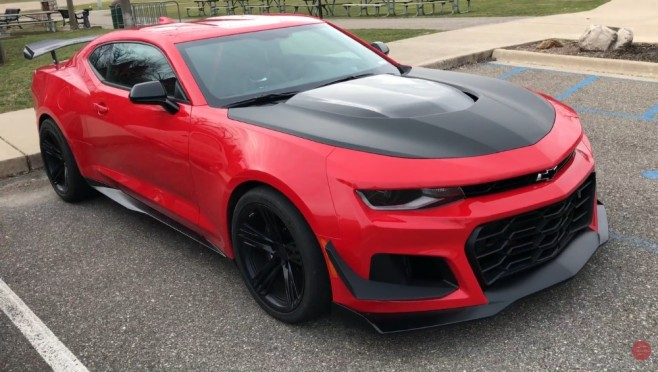 Red Hot Camaro Zl1 1le Spotted Out And About 6th Gen