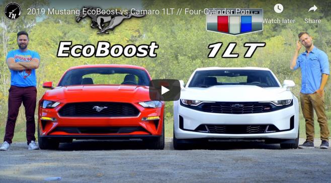Mustang EcoBoost vs Camaro 1LT